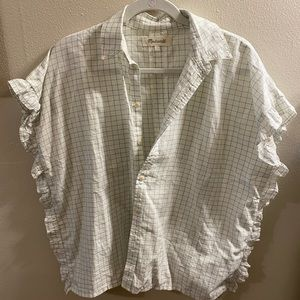 Madwell ruffle button down